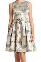 Tommy Hilfiger Gold Metallic Floral Women's Size 14 A-Line Dress