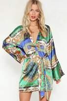 Nasty Gal That Ain't the Scarf of It Kimono Dress