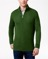 Geoffrey Beene Men's Quarter Zip Drop Needle Sweater