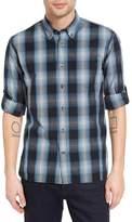 John Varvatos Mitchell Plaid Trim Fit Shirt