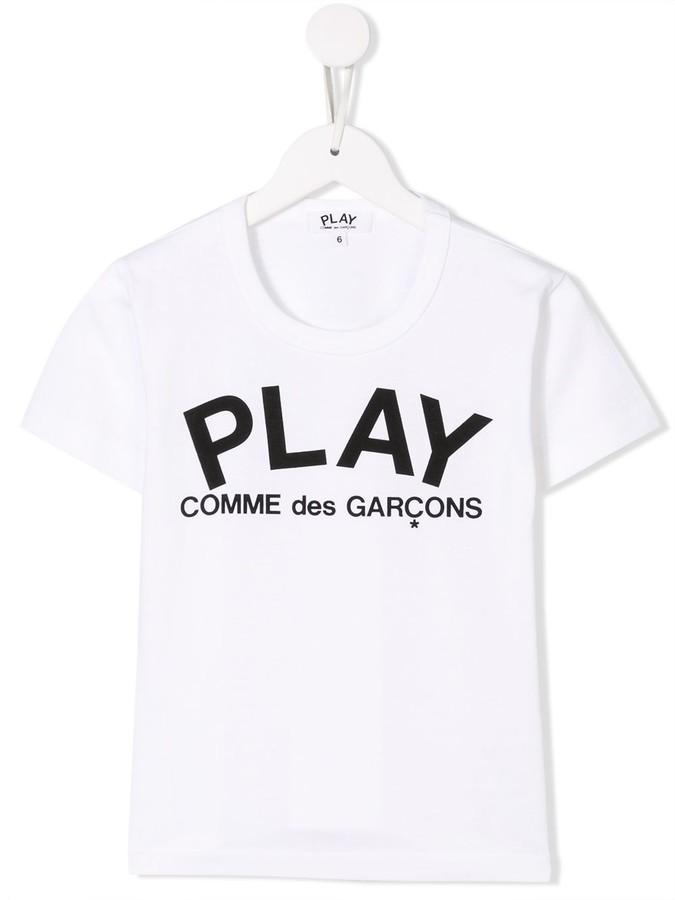 Comme des Garcons Kids lettering logo print T-shirt