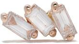 Kismet By Milka 14kt rose gold Three diamond baguette piercing stud