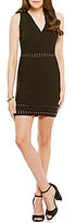 GUESS Mirage Metal Effects Sleeveless Sheath Sweater Dress