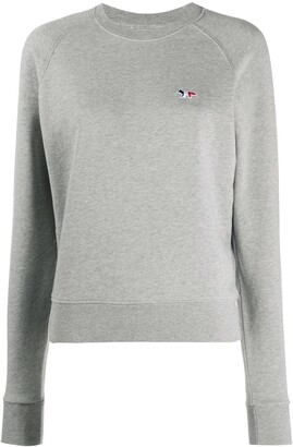 MAISON KITSUNÉ Embroidered Logo Crew Neck Sweatshirt