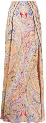 Etro paisley-print A-line maxi skirt