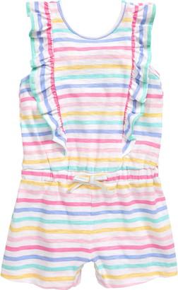 Little Me Stripe Knit Romper