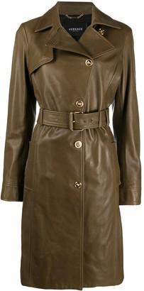 Versace Medusa belted trench coat