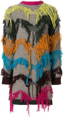 I'M Isola Marras Embroidered Back To Front Cardigan