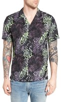 NATIVE YOUTH Men's Hornsea Print Camp Shirt