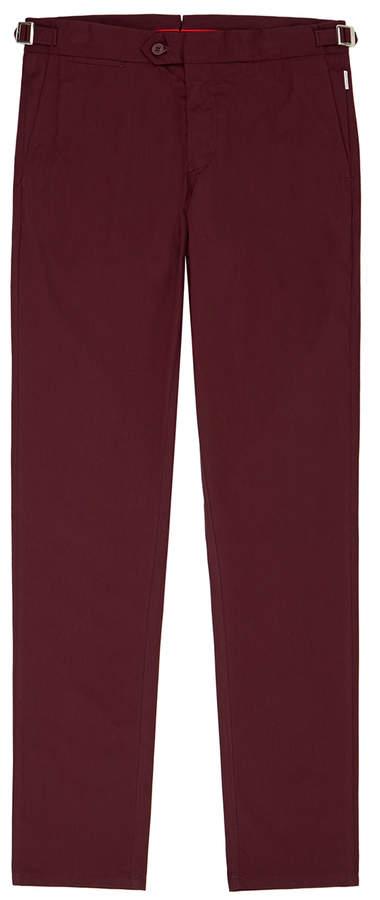 Orlebar Brown Griffon Bordeaux Side-Fastener Trousers