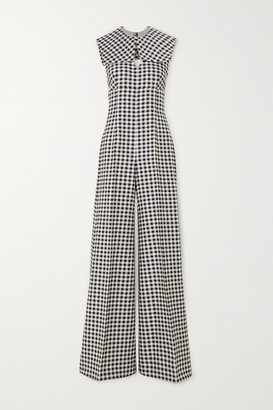 Emilia Wickstead Anthea Open-back Gingham Woven Jumpsuit
