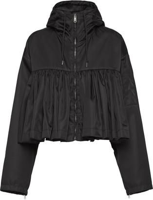 Prada ruffled cropped raincoat
