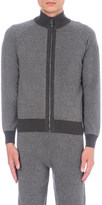 Corneliani Contrast-trim cashmere and virgin wool-blend tracksuit top