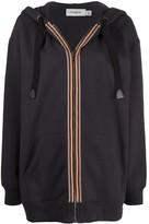 Coach striped band bomber jacket