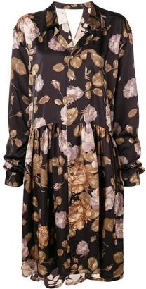 Junya Watanabe Floral Oversized Shirt Dress