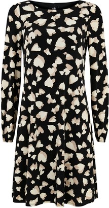 Wallis Stone Heart Print Swing Dress