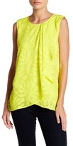 Chaus Sleeveless Jacquard Blouse
