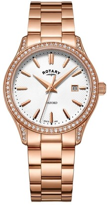 Rotary Womens Analogue Classic Quartz Watch with Stainless Steel Strap LB05096/02