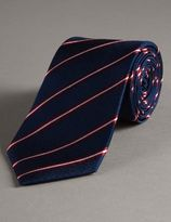 Marks and Spencer Official England Pure Silk Striped Tie