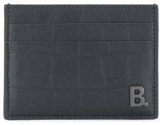Balenciaga B plaque card holder