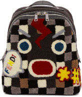 Fendi Multicolor Shearling Backpack