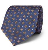 Dunhill 7cm Floral-Print Mulberry Silk-Jacquard Tie