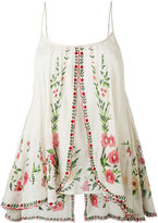 Mes Demoiselles embroidered top - women - Cotton - 38