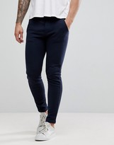 United Colors Of Benetton Slim Fit Joggers With Open Cuff In Navy