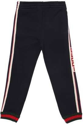 Gucci Logo Side Bands Cotton Sweatpants
