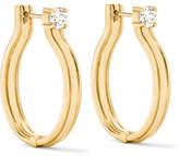 Melissa Kaye Jen Maia 18-karat Gold Diamond Hoop Earrings
