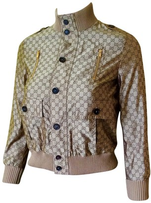 Gucci Beige Polyester Jackets & Coats