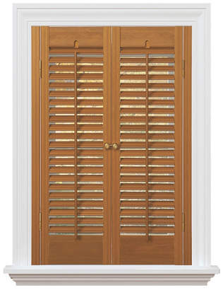 """Traditional Faux Wood Interior Shutter, 23-25"""" W x 24"""""""