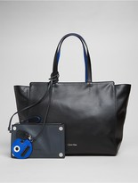 Calvin Klein Julienne Leather Large Tote, Pouch + Key Fob