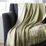 Crate & Barrel Tepi Sage Green Throw
