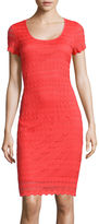Ronni Nicole RN Studio by Short-Sleeve Coin Lace Sheath Dress