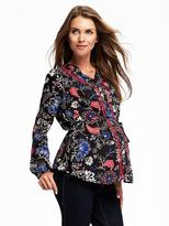 Old Navy Maternity Floral Tie-Waist Blouse
