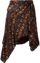 Isabel Marant 'Teal' skirt - women - Silk - 36