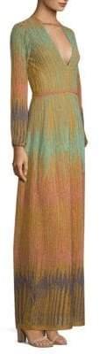 M Missoni Women's Lurex Devore Maxi Dress - Mint - Size 42 (6)