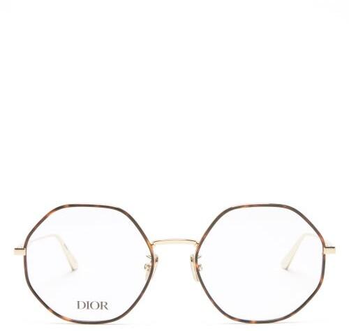 Christian Dior Gemdioro Round Metal Glasses - Gold