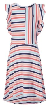 Tommy Hilfiger Little Girls Striped Flutter Dress