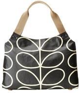 Orla Kiely Black-Stem Shoulder Bag