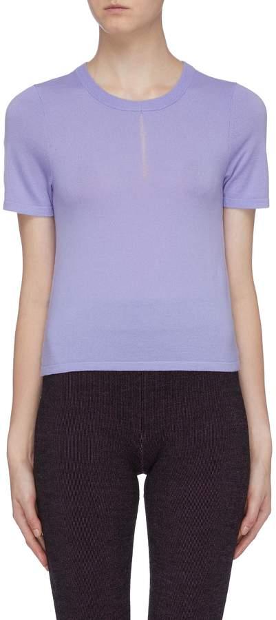 Nagnata Laddered yoke Merino wool blend T-shirt