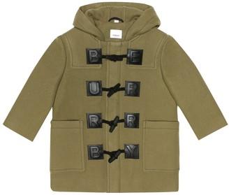 BURBERRY KIDS Braydon wool-blend duffle coat