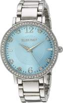 Ellen Tracy Women's ET5217SLLB Analog Display Analog Quartz Silver Watch