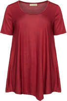 Isolde Roth Plus Size Asymmetric t-shirt