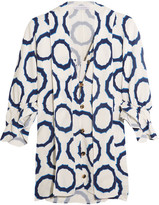 J.W.Anderson Pussy-bow Printed Cady Blouse - Indigo