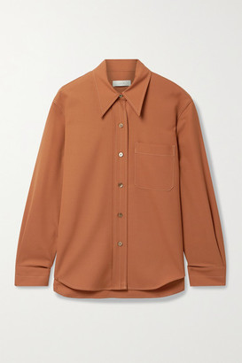 LVIR Wool-blend Shirt - Orange