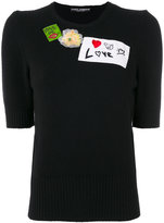 Dolce & Gabbana embellished knitted top