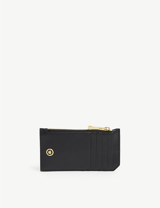 Versace Logo-embellished leather card holder