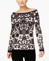 INC International Concepts Reversible Off-The-Shoulder Sweater, Only at Macy's